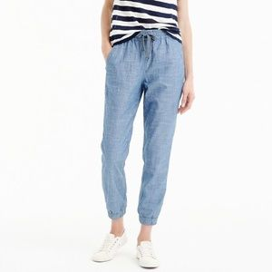 NWT J.Crew Tall Point Sur Seaside Pant Chambray 8T